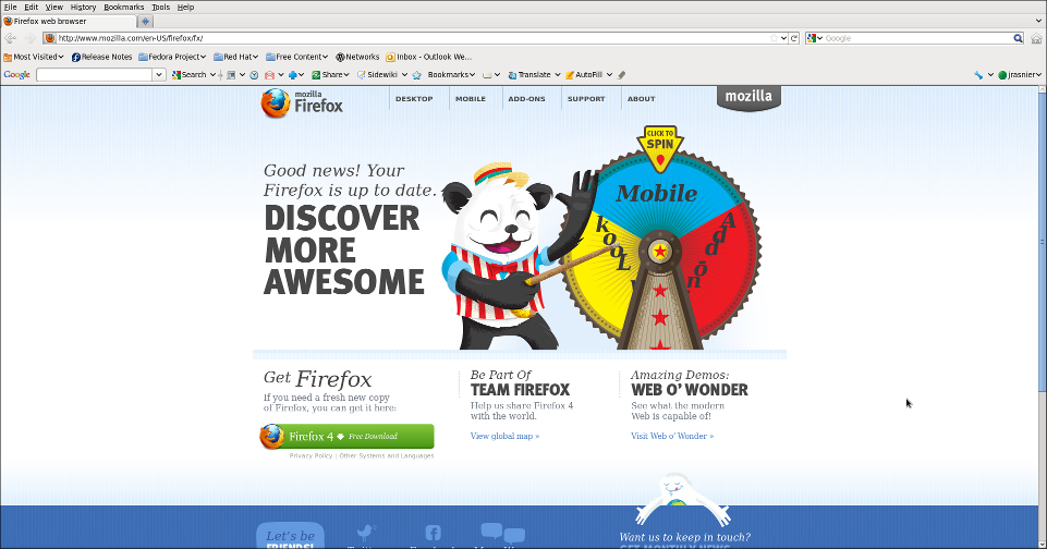 Screenshot-Firefox web browser - Mozilla Firefox 4